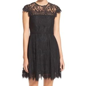 BB Dakota black lace open back dress!